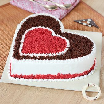 Chocoholic Red Velvet Cake with Side View