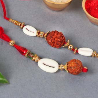 Product in Rakhi With Flowers - Rakhi With Ten Yellow Carnations