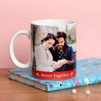 Personalised Mug for Couples with Back Side View