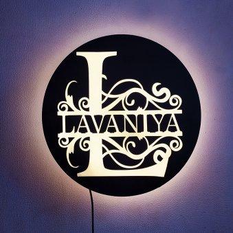 Custom Monogram Led Lamp