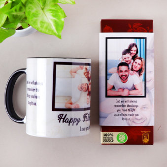 Personalized Father's Day Mug Combo