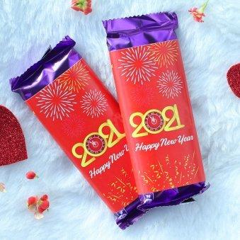 Personalised New Year Dairy Milk Silk Chocolates