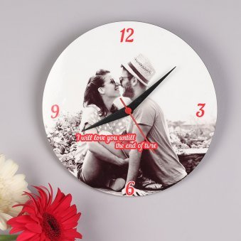 Customised Wall Clock for Valentines Gift Ideas