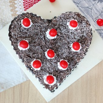 Decadent Black Forest Cake with Top View
