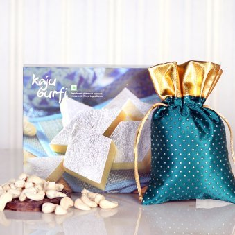 Delightful Kaju Burfi N Cashews - Diwali Gift
