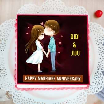 Anniversary Poster Cake for Di and Jiju
