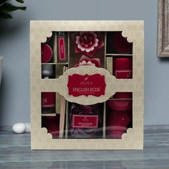 English Rose Aroma Diffuser Gift Combo in a Box