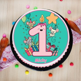 Poster Cake for 1 Year Old