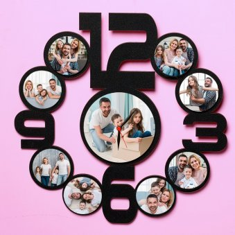 Personalised Family Wall Clock