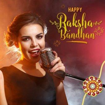 Female Singer Wishing Happy Raksha Bandhan