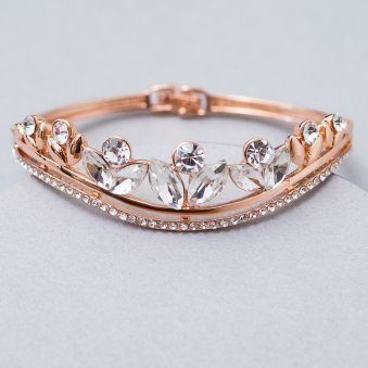 Floral Gold-Plated Bracelet