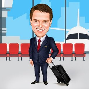 Caricature Gift For Pilot Friend
