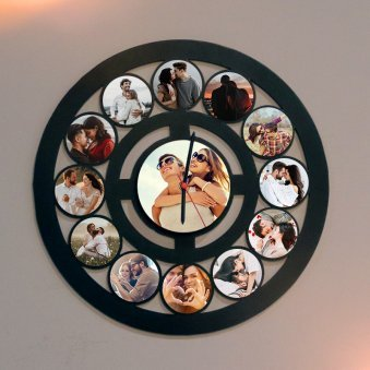 Wall Clock with Couple Photo