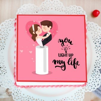 Anniversary Poster Cake for Hubby