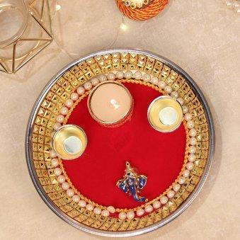 Ganesha Diwali Puja Thali - Diwali Gift