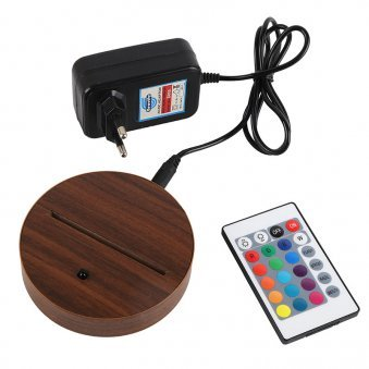 LED Acrylic Multicolour Lamp - Adapter with Remote and Stand