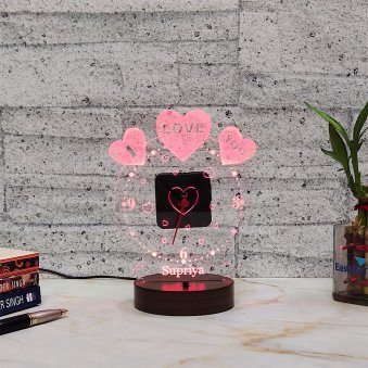 LED Acrylic Multicolour Night Lamp for her - A Gift for Your Girlfriend