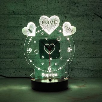 LED Acrylic Multicolour Lamp - A Love Gift for Your Girlfriend