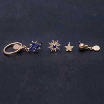 Gold Earrings N Cuffs
