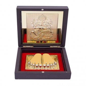 Gold Foil Ganesha Pooja Box