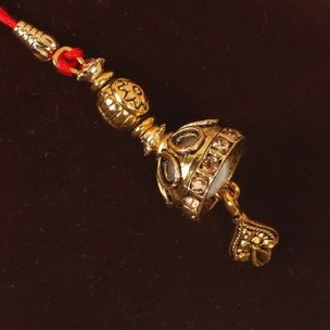 Golden Bell Lumba Rakhi