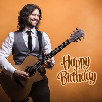 Happy B'day Surprise with Guitar and Song
