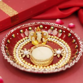 Handcrafted Diwali Puja Thali - Diwali Gift