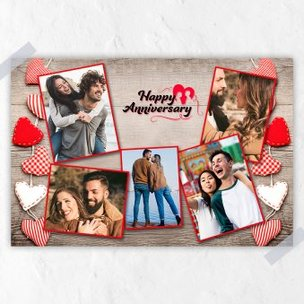 Personalised E Anniversary Collage