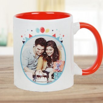 Happy Birthday Celebration Mug with Front Sided View