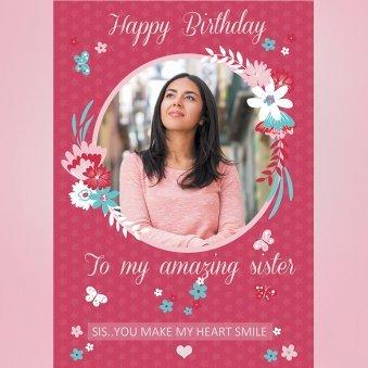Happy Birthday Sister E-Cards