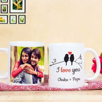 Heart In A Mug - Personalised White Mug with Both Sided View