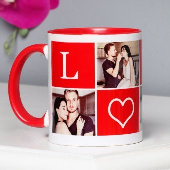 Personalised Red Love Mug