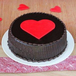 Choco Truffle Anniversary Heart Cake