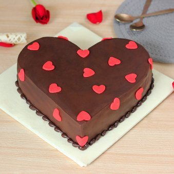 Heartiest Love Cake with Normal View