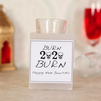 HNY themed candle