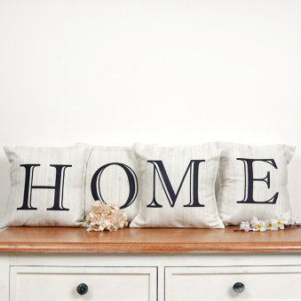Home Letter Printed Couch Cushions