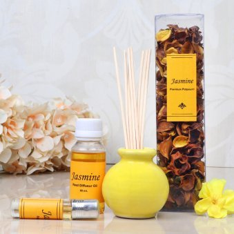 Jasmine Aroma Reed Diffuser Set - A Birthday Gift for her