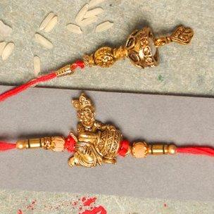 Krishna Bhaiya Bhabhi Rakhi Set
