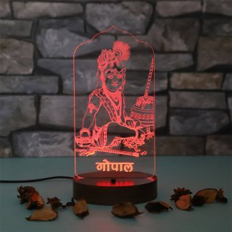 Laddu Gopal Glowing Table Lamp - Birthday Gift for Grand Mother