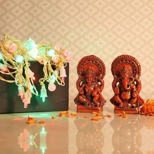 Lakshmi Ganesha with Lights
