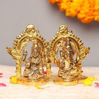 Laxmi Ganpati Murti4 Inch Laxmi & Ganesha Idols