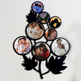Leafy Personalised Wall Frame