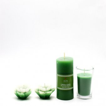 Votive Candles - A Product of Lemongrass Oil Diffuser Gift Set