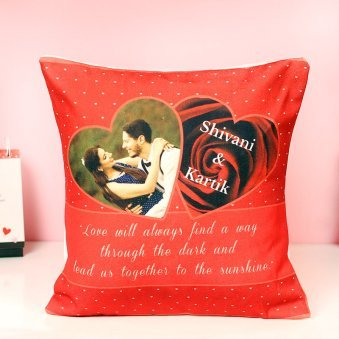 Personalised Cushion Gift For Your Valentine Partner