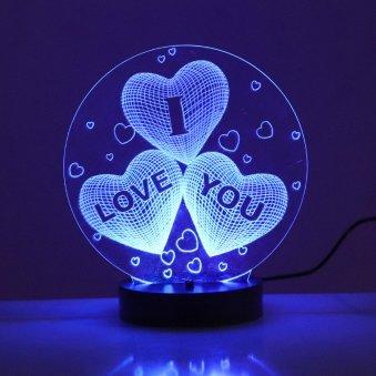 Multicolor I Love You Led Lamp