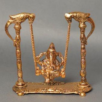 Lord Ganesh Swing Idol - Metal