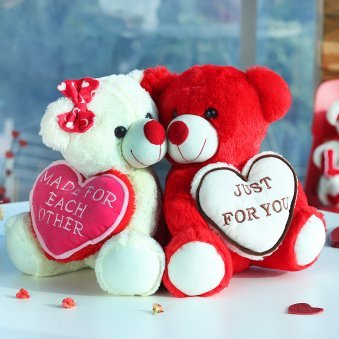 Made for Each Other Valentines Teddy Bear