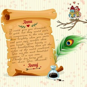 Personalised Digital Love Scroll