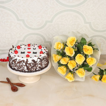 M Day Cake N Flowers