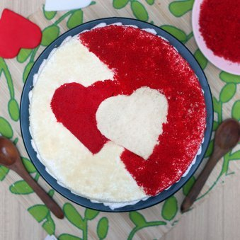 Top view of Love Cake